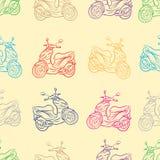 Seamless scooters contours Stock Photos