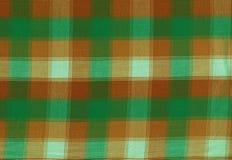 Seamless scottish green and orange background. Royalty Free Stock Images