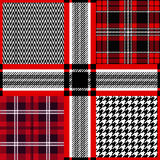 Seamless Scottish plaid checkered vector pattern. Stock Photo