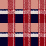 Seamless Scottish plaid checkered vector pattern. Stock Images