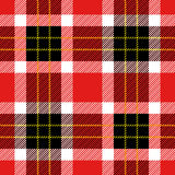 Seamless Scottish plaid checkered vector pattern. Stock Image