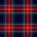 Seamless Scottish plaid checkered vector pattern. Royalty Free Stock Images