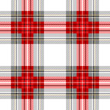 Seamless Scottish plaid checkered vector pattern. Stock Photography