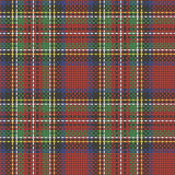 Seamless  scottish squared cloth background Stock Images