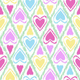 Seamless scribble bright pastel ornament pattern design backgrou Royalty Free Stock Photography