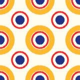 Seamless scribble circle pattern Royalty Free Stock Image