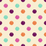 Seamless scribble dots pattern Royalty Free Stock Image