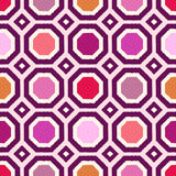 Seamless scribble geometric pattern Royalty Free Stock Photos