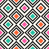 Seamless scribble geometric pattern Stock Photography