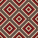 Seamless scribble geometric rhombus pattern Stock Photography