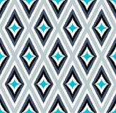 Seamless scribble geometric rhombus pattern Royalty Free Stock Images