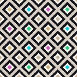 Seamless scribble geometric rhombus pattern Stock Images
