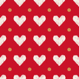 Seamless scribble heart pattern Royalty Free Stock Photography