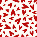 Seamless scribble heart pattern Stock Photo