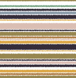 Seamless scribble horizontal stripes pattern Royalty Free Stock Image