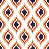 Seamless scribble rhombus ornament pattern Royalty Free Stock Images