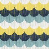 Seamless scribble scallop wave pattern Royalty Free Stock Photos