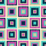 Seamless scribble square tiles pattern Royalty Free Stock Photography