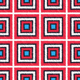 Seamless scribble square tiles pattern Stock Photos