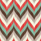 Seamless scribble wave pattern. With retro colors Royalty Free Illustration