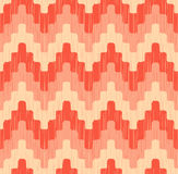 Seamless scribble wave pattern. Seamless scribble pixelated zigzag wave pattern with retro colors Royalty Free Illustration