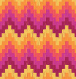 Seamless scribble wave pattern. Seamless scribble pixelated wave pattern with retro colors Stock Illustration