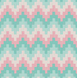 Seamless scribble zigzag pattern Royalty Free Stock Photo