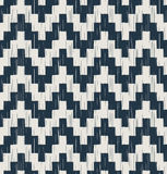 Seamless scribble zigzag wave pattern Stock Photography