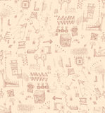 Seamless scribbles pattern Royalty Free Stock Photos