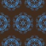 Seamless Scrolldesign royaltyfri illustrationer
