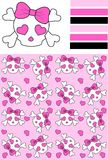 Seamless scull pattern Royalty Free Stock Photo