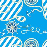 Seamless sea background. vector illustration