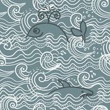 Seamless sea background in vector Stock Photo