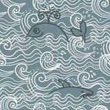 Seamless sea background in vector. Seamless sea pattern for background in vector Stock Photo