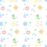Seamless sea colorful pattern Royalty Free Stock Images