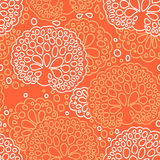 Seamless sea coral pattern Stock Photos