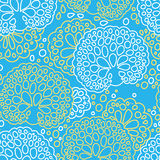 Seamless sea coral pattern Royalty Free Stock Image