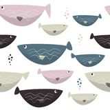 Seamless sea fishes simple pattern. Wildlife background. Wildlife background. Seamless sea fishes simple pattern Stock Photography