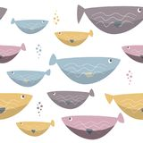 Seamless sea fishes simple pattern. Wildlife background. Wildlife background. Seamless sea fishes simple pattern Stock Images