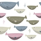 Seamless sea fishes simple pattern. Wildlife background. Wildlife background. Seamless sea fishes simple pattern Stock Image