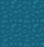 Seamless sea food pattern Royalty Free Stock Images