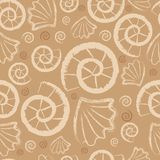 Seamless sea pattern Royalty Free Stock Photo