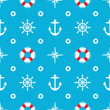 Seamless sea pattern, vector  Stock Image