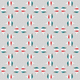 Seamless sea pattern with boats on waves Stock Image