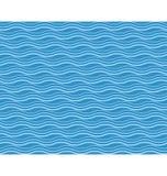 Seamless sea pattern. Cyan waves on blue. Background stock illustration