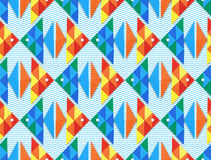 Seamless sea pattern with fish Stock Photos