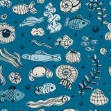 Seamless sea pattern Royalty Free Stock Image