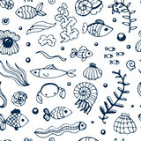 Seamless sea pattern Stock Images
