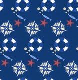 Seamless sea pattern.marine theme Stock Photo