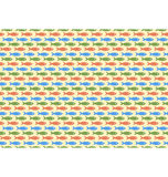 Seamless sea pattern. Multicolor fishes on yellow Royalty Free Stock Image